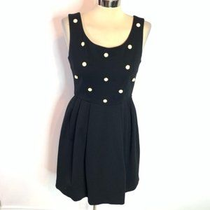 Betsey Johnson pearl front fit flare dress